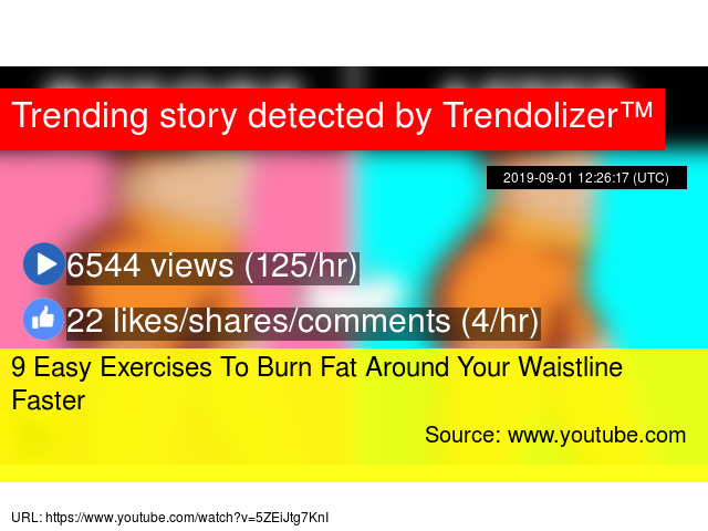 9 Easy Exercises To Burn Fat Around Your Waistline Faster
