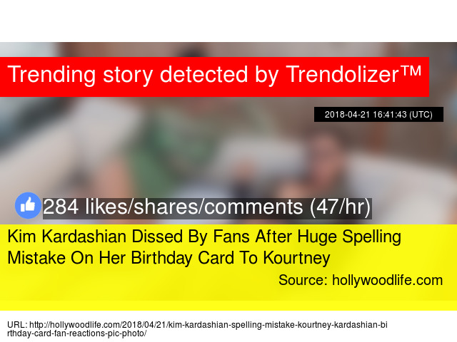 Kim Kardashian Dissed By Fans After Huge Spelling Mistake On Her